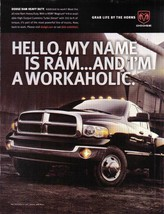 Dodge Ram Heavy Duty Hello, My Name Is Ram Full Page Color Ad Near Mint - $5.99