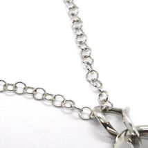 Silver necklace 925 Chain Rolo, three Drops Pendants, processed and Smooth image 4