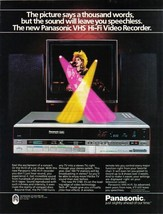 Panasonic The Picture Says A Thousand Words Full Page  Color Ad Near Mint - $5.99