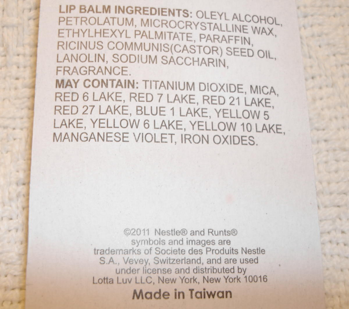 Runts Candy Blue Raspberry Flavor Lip Balm Gloss 3 Pack New Sealed Lotta Luv