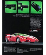 """1985 Alpine Components """"Win a Lamborghini"""" Vintage Photo Print Ad - $3.00"""