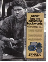 Jensen Speakers Vintage 1984 Full Page Color Print Ad Near Mint - $5.99