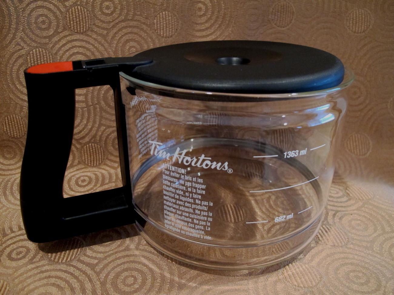 Tim Hortons Coffee Pot Carafe 48 ounce Mug Canada Souvenir English French