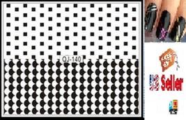 C3:Nail Art Manicure Tips Sticker w/Free 2PCS Rolls Striping Tape Line N... - $2.97