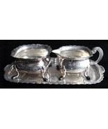 Elegant Vintage Primans Silver Sugar Creamer Tray Set Sweden - $14.50
