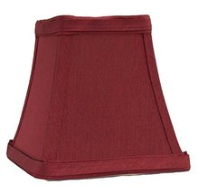 Urbanest Square 4-inch Softback Bell Chandelier Lamp Shade, Burgundy, Fa... - $9.89