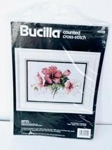 Bucilla Hibiscus Flowers Kit Crossstich Kit 9 x 12 Vintage 1990 New Sealed ❤️ - $29.99