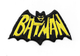 Batman 1960's TV Show Cape and Name Logo Embroidered Patch, NEW UNUSED - $7.84