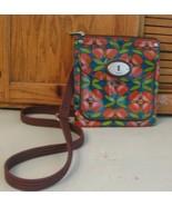 Fossil Key Per Cowhide PURSE Handbag Crossbody Shoulder Bag Flower Print - $23.75
