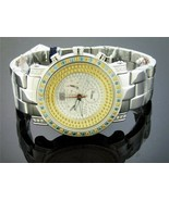 AQUA MASTER 2.60CT CANARY YELLOW AND BLUE DIAMONDS ONE ROW WATCH - $1,484.99