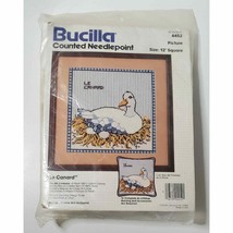 Bucilla Counted Needlepoint Duck Le Canard Number 4452 Vintage Sealed - $14.99