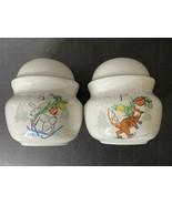 Vintage Fox & Rabbit Christmas Salt and Pepper Shaker Set made in Japan ... - $16.34
