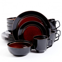 Gibson Elite Bella Galleria 16 Piece Dinnerware Set, Red and Black - $102.78