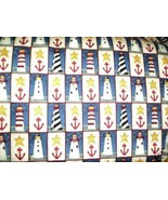 Cape Liberty fabric Deb Strain Moda Lighthouse 2 yards - $18.99