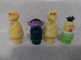 4 Fisher Price Vintage Little People Sesame Street Figures Big Bird Erni... - $17.33