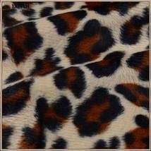 Long Blue Front Zip Up Lined Leopard Print Medium Length Hooded Parka Jacket image 2