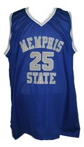 Penny Hardaway #25 College Basketball Jersey New Sewn Blue Any Size image 3