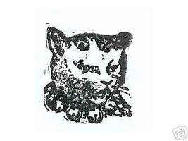 Cat head wearing bells  Rubber stamp - $7.50