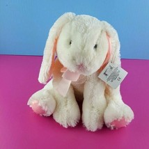 "Russ Hunnie Plush Bunny White Pink Bow Stuffed Rabbit Animal 13"" Easter ... - $37.61"