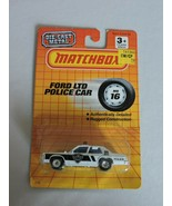 Matchbox Ford LTD Police Car Cruiser Toy Diecast MB16 Police Officer Gif... - $19.99