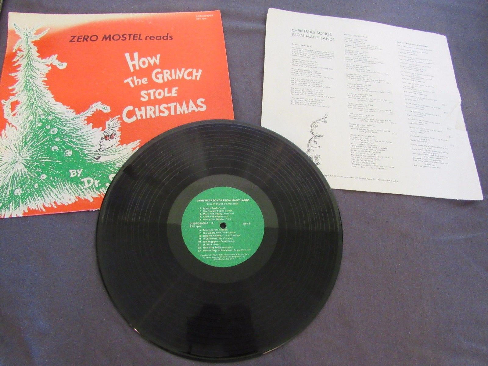 Zero Mostel How the Grinch Stole Christmas Dr Seuss Christmas Songs Many Lands