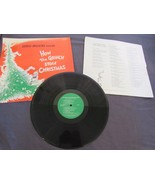 Zero Mostel How the Grinch Stole Christmas Dr Seuss Christmas Songs Many... - $16.93