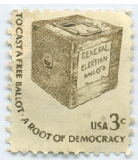 S2- 3 Cent Stamp Americana To Cast A Free Ballot Scott #1584 - €0,39 EUR