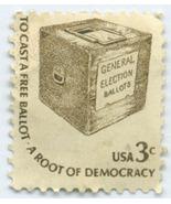 S2- 3 Cent Stamp Americana To Cast A Free Ballot Scott #1584 - $10,12 MXN