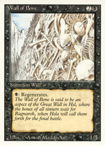 Magic: The Gathering 3rd Edition - Wall of Bone - $0.25