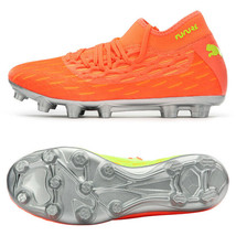Puma Future 5.2 Netfit OSG HG Football Boots Shoes Soccer Cleats Orange 10593501 - $134.99