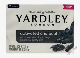 Yardley Soap Activated Charcoal Moisturizing Bath Bar 2 BARS - $7.90