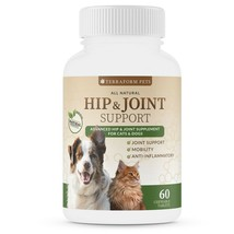 Hip & Joint Support Joint Health Support for Pets, 60 Chewables - Terraf... - $19.99