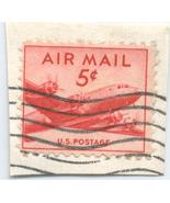 S14 - 5 Cent Airmail DC4 Stamp - Scott #C33 - £0.74 GBP