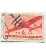 S16 - 6 Cent Airmail DC4 Stamp - Large - Scott #C25 - €0,87 EUR