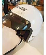HJC CL-5 3/4 Motorcycle Scooter Helmet w/ Visor Size Medium White Snell Dot - $42.52