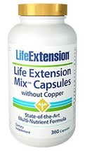Life Extension Mix Capsules Without Copper NEW FORMULA! 360 caps 30 Day ... - $48.00