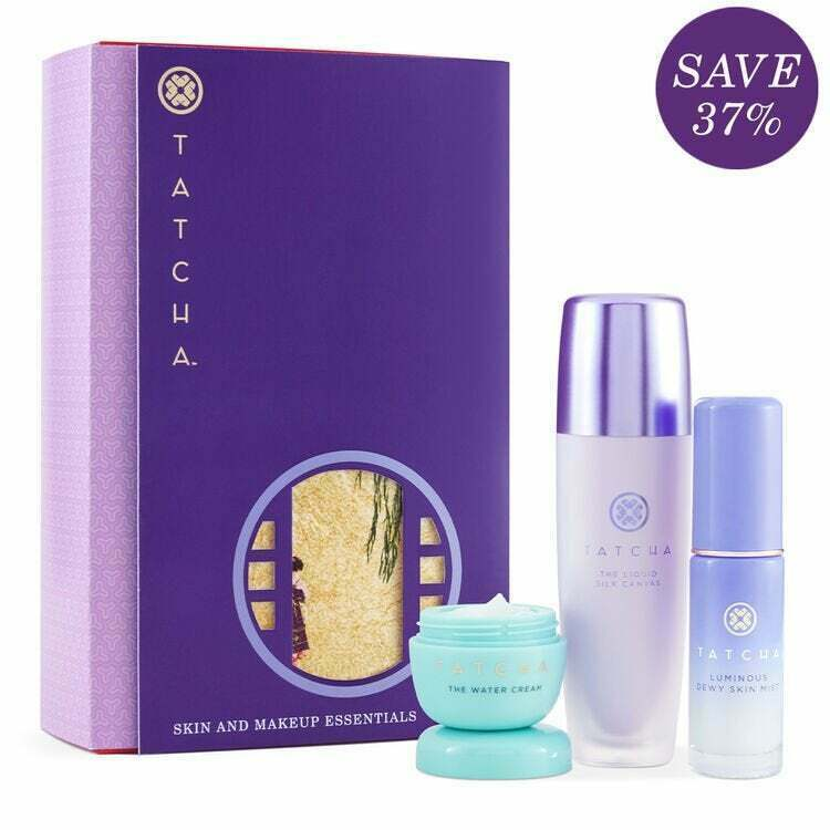 Primary image for TATCHA Essentials 3 Piece Set ~ Full Size Liquid Silk Canvas, water cream SEALED