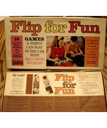 PARKER BROTHERS FLIP FOR FUN 16 Travel Games Play Dominos Crazy 8s VINTA... - $19.75