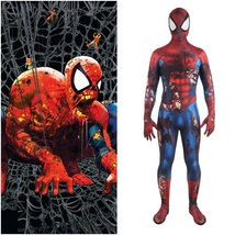 Avengers Spiderman Peter Parker Zombie Suit Cosplay Costume For Kids Adult - $71.89