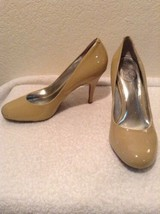 "New Jessica Simpson ""Oscar"" Size 9 B Nude Patent Leather Classic Pump Heels - $23.97"