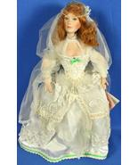 "Porcelain Doll Paradise Galleries 18"" Wedding Bride Red Hair & Green Eyes - $24.95"