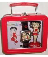 Betty Boop Wristwatch Figurine 2003 tin boxed set watch statue H19 - $47.77