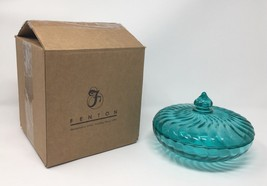 Fenton Art Glass Robins Egg Blue Covered Candy Dish - New! #4280 T6 - $65.00