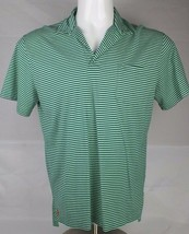 Polo by Ralph Lauren men's striped polo shirt green cotton classic size L - $13.99