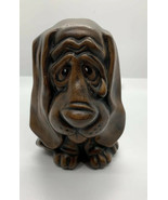 Vintage big Floppy eared Sad Ceramic hound dog with tear Drop And Tongue... - $7.92