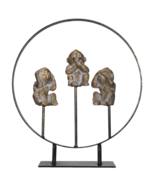 See Hear Speak No Evil Monkeys Resin Figurine with Stand - $24.74