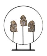 See Hear Speak No Evil Monkeys Resin Figurine with Stand - $24.74