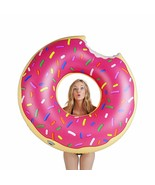 BigMouth Inc. Giant Pink Donut Pool Float, Funny Inflatable Vinyl Summer... - $19.99