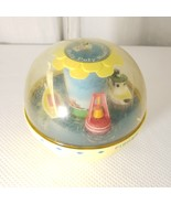 Fisher Price Roly Poly Boat Chime Ball #162  Yellow Sailboat Tugboat 67-... - $21.64