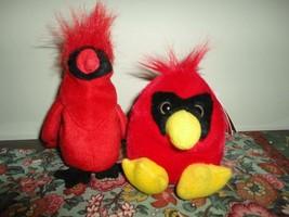 Puffkins CASEY CARDINAL Baby Bird 1994 MJC Stuffed Plush / Ty Mac Cardin... - $57.83